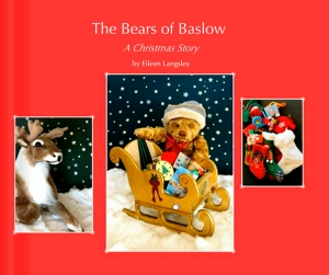 "The cover of the book ""The Bears of Baslow - A Christmas Story""."