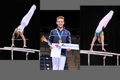 Brinn Bevan (South Essex GC) wins the under 16t men's competition at the British Gymnastics Championships Liverpool Echo Arena March 22-24 2013.