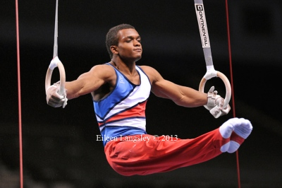 Courtney Tulloch (Pegasus GC) competing in the senior men's competition at the British Gymnastics Championships Liverpool Echo Arean March 22-24 2013.