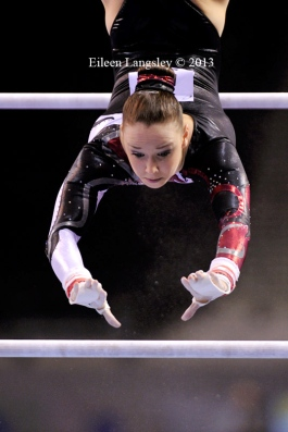 Olympic team member Hannah Whelan (City of Liverpool GC) competing in the senior women's competition at the British Gymnastics Championships Liverpool Echo Arena March 22-24 2013.