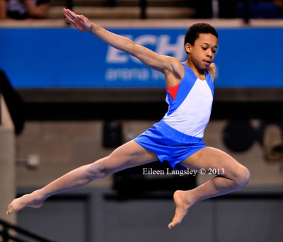 Joe Fraser (City of Birmingham GC) competing in the junior men's competition at the British Gymnastics Championships Liverpool Echo Arean March 22-24 2013.