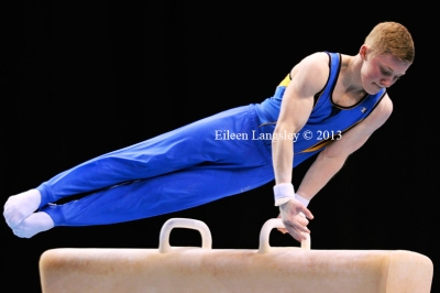 Nile Wilson(City of Leeds GC) competing in the junior men's competition at the British Gymnastics Championships Liverpool Echo Arean March 22-24 2013.