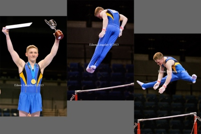 Nile Wilson (City of Leeds) wins the Under 18 Men's title