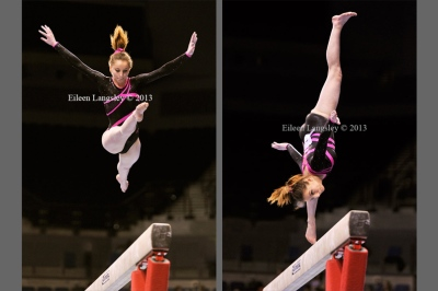 Stevie Harrow and Olivia Blatch competing in the women's competition at the British Gymnastics Championships Liverpool Echo Arean March 22-24 2013.