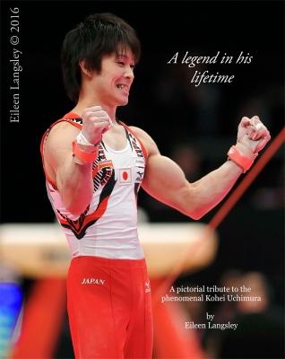 Kohei Uchimura celebrates his 6th consecutive world title in Glasgow 2015