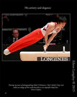 In action on Pommel Horse