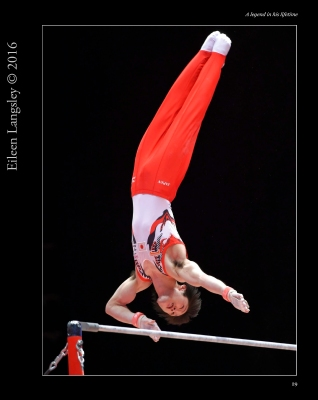 in action on horizontal bar