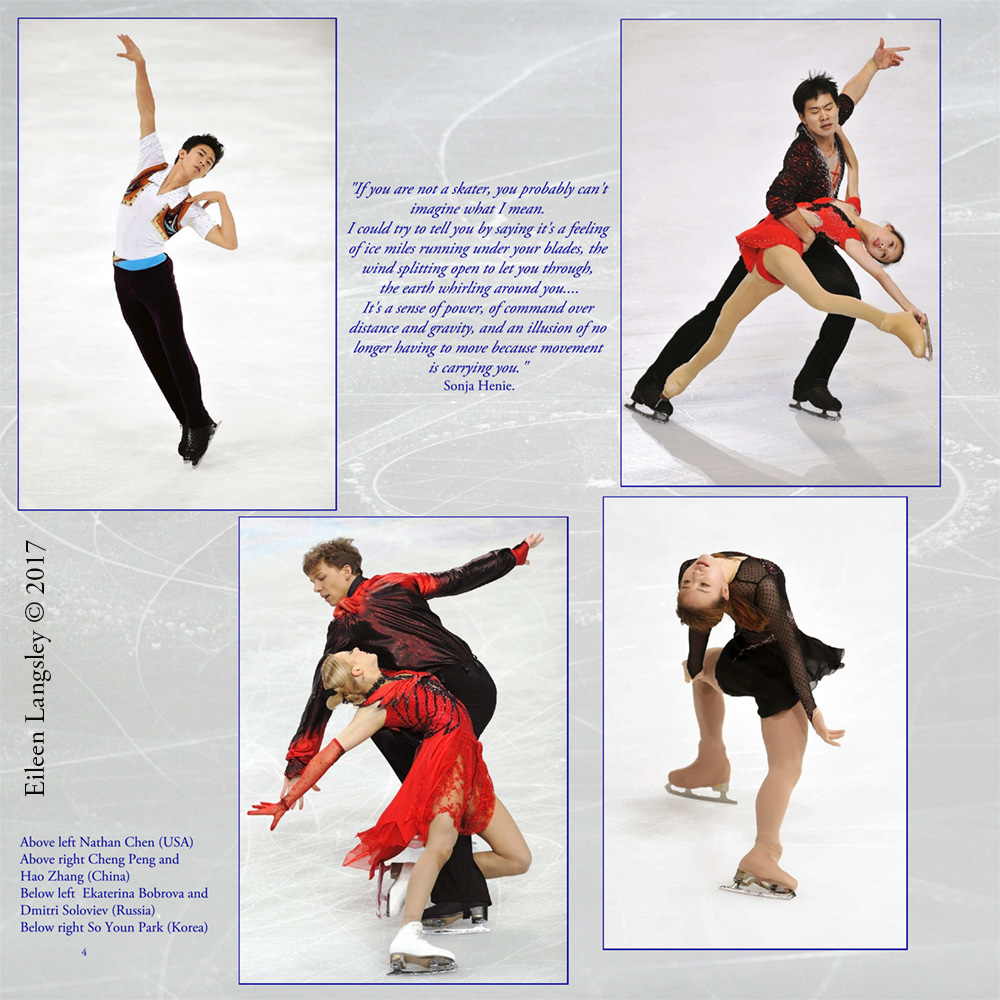 The introduction page from the book 'Frozen in Time' featuring the disciplines of Figure Skating.