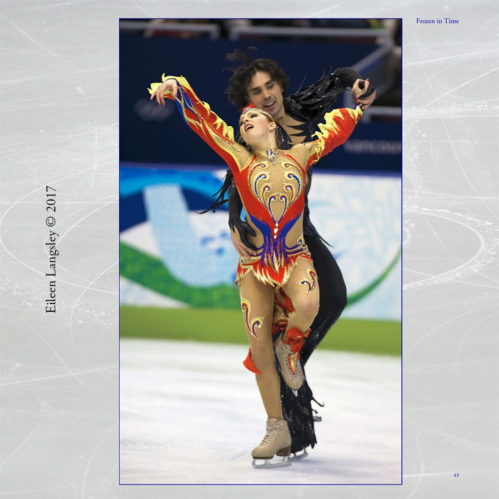 Page 43 of the book 'Frozen in Time' featuring Ice Dancers Jana Khokhlova and Sergei Novitski (Russia).