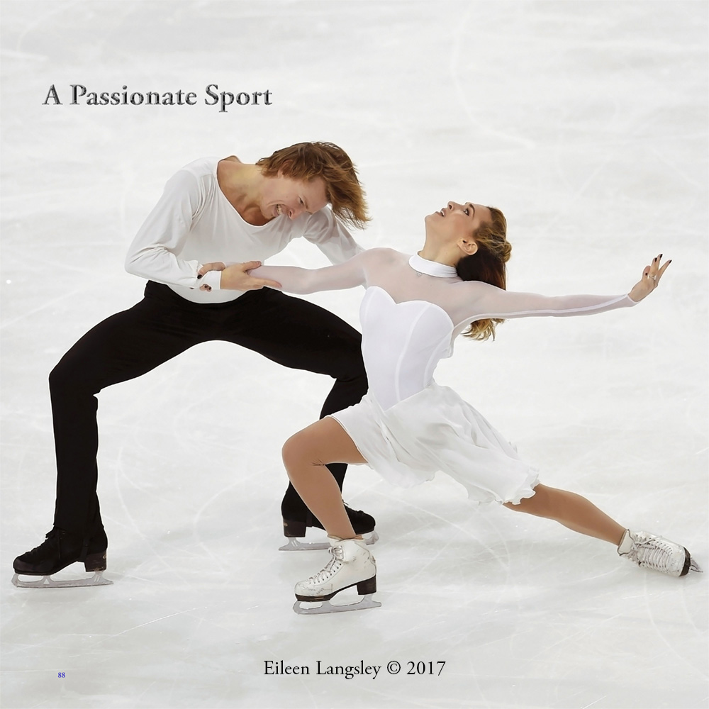 Page 88 of the book 'Frozen in Time' featuring ice dancers Isabella Tobias and Ilia Tkachenko (Israel).